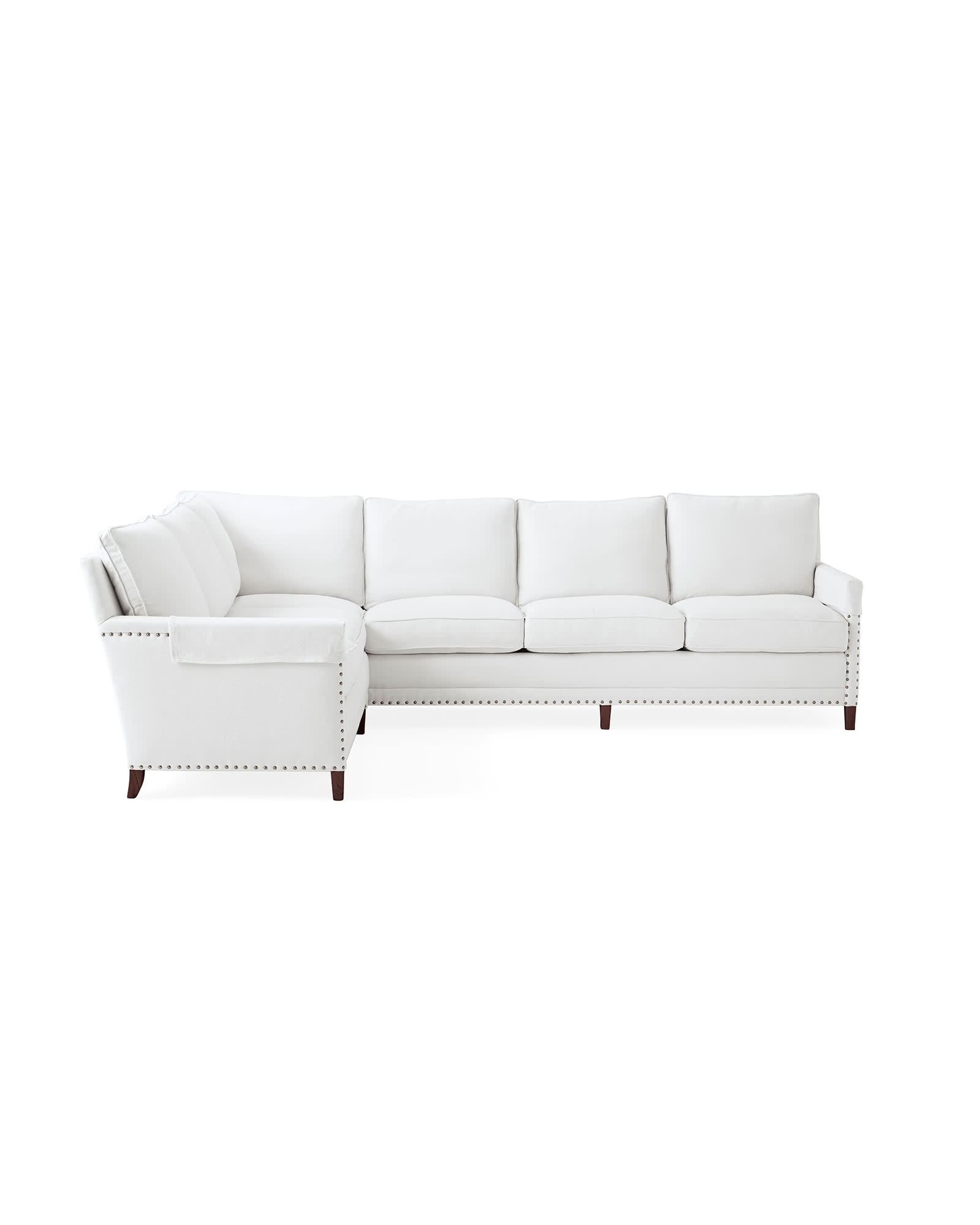 Spruce Street L-Sectional with Nailheads – Right-Facing,